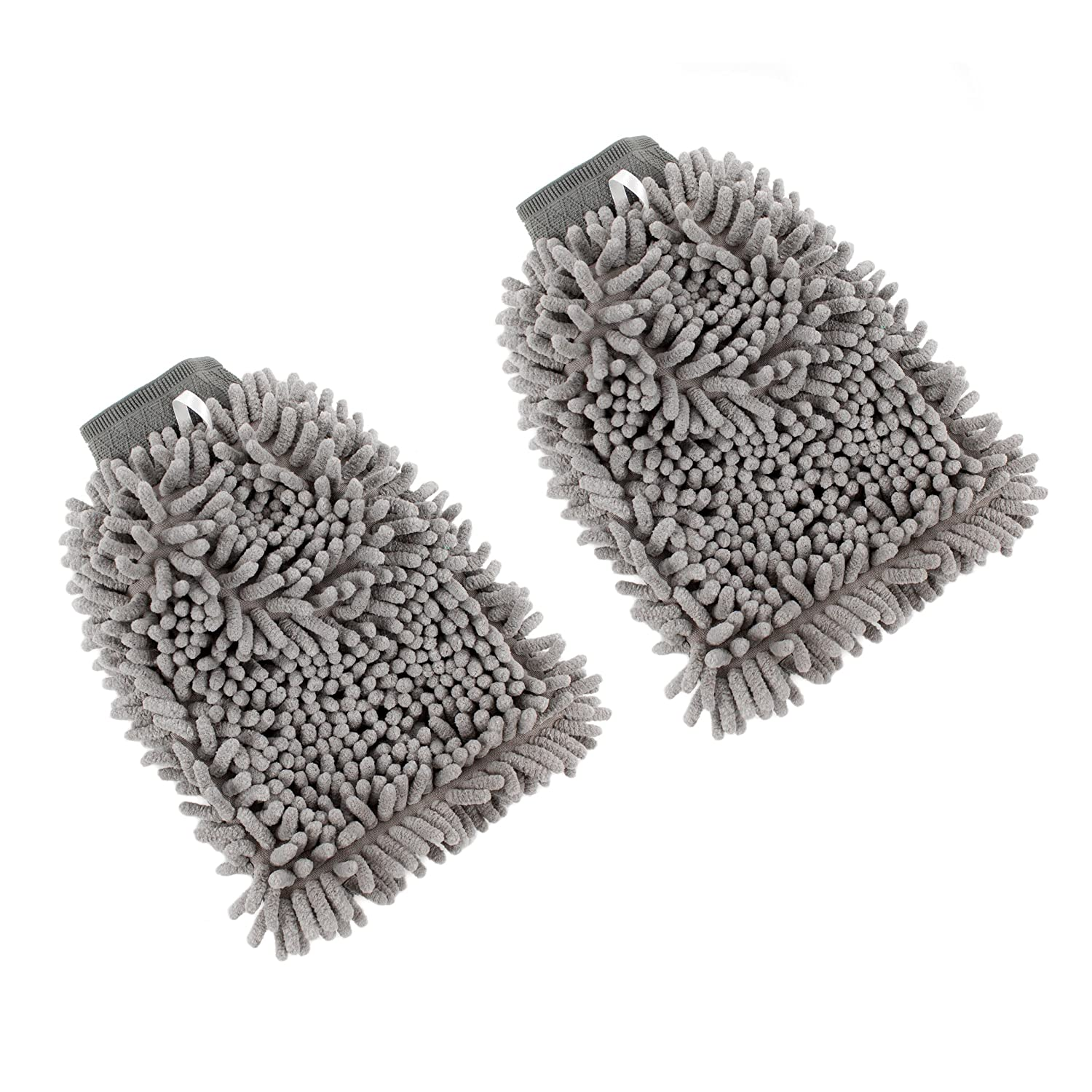 Zwipes Auto 886-2 Professional Microfiber 3-in-1 Car Wash Mitt, 2-Pack