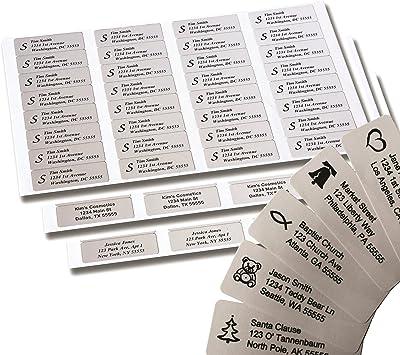 30 Custom Guitar Bear Personalized Address Labels