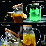 Large Glass Water Pitcher, 60 Ounce Borosilicate