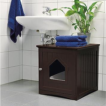 Amazon.com: Arenero muebles casa café gato muebles baño ...