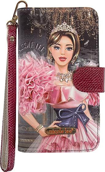 Nicole Lee Funda Universal para celular DIVSHA estampada estilo cartera con correa para muñeca FW20