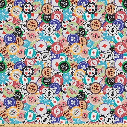 1 yard Poker Chips Fabric