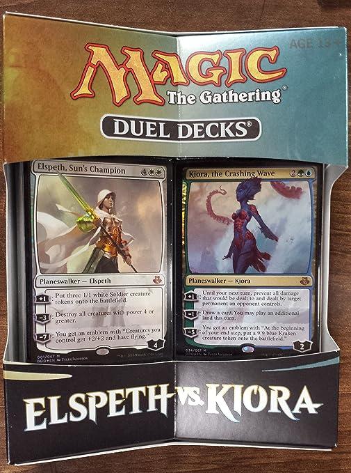 Elspeth vs Kiora Magic mtg NM Foil Duel Decks Sun/'s Champion Elspeth