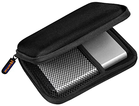 mumbi Z-Festplattentasche-TC-25-zoll-black1 - Funda para disco duro externo, negro [Alemania]