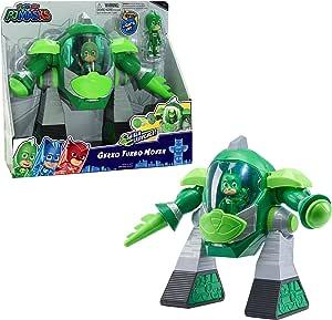 PJ Masks- Robot Turbo Movers Gekko, buhita, Color Verde (Bandai JP95508)