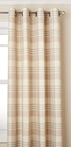 """LORRAINE HOME FASHIONS Rutherford Grommet Window Curtain Panel, 52"""" x 84"""", Beige"""