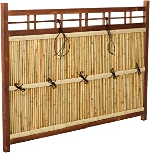 Oriental Furniture 4 ft. x 5 ½ ft. Japanese Bamboo Kumo Fence(B)