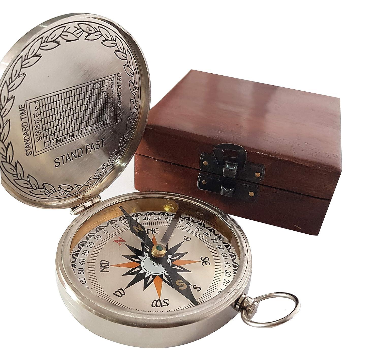 ヴィンテージニッケルBoy ScoutコンパスアンティークFunctional Nautical Authentic方向記事 – collectiblesbuy   B07CYTTKBN