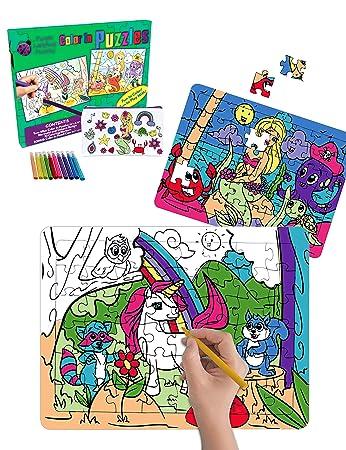 Purple Ladybug Novelty 2 Puzzle Bambini Da Colorare Con Disegni Di