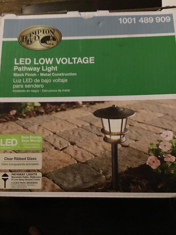 Hampton Bay Low-Voltage LED Black Mission Outdoor Path Light - - Amazon.com