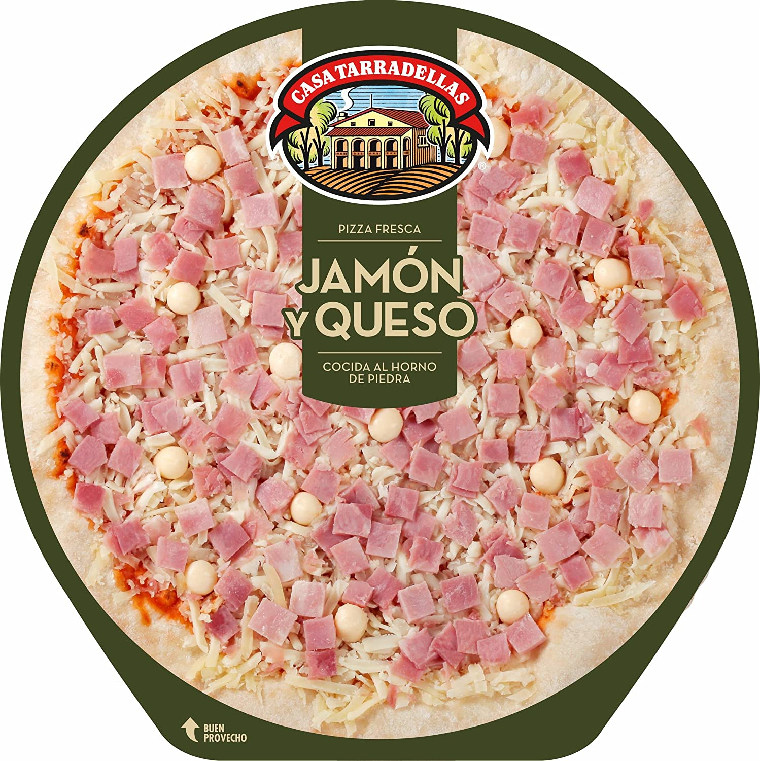 Casa Tarradellas Pizza Fresca Jamón y Queso - 405 gr: Amazon.es ...