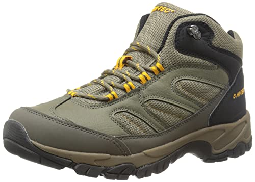 Hi-Tec Men's Moreno Hiking Boot, Smokey Brown/Taupe/Gold, 8 M US