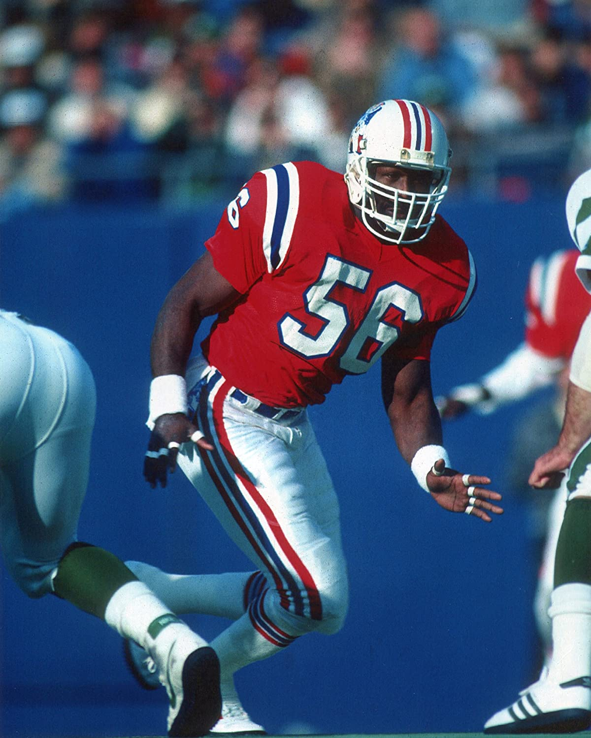 ANDRE TIPPETT NEW ENGLAND PATRIOTS 8X10 SPORTS ACTION PHOTO MIT