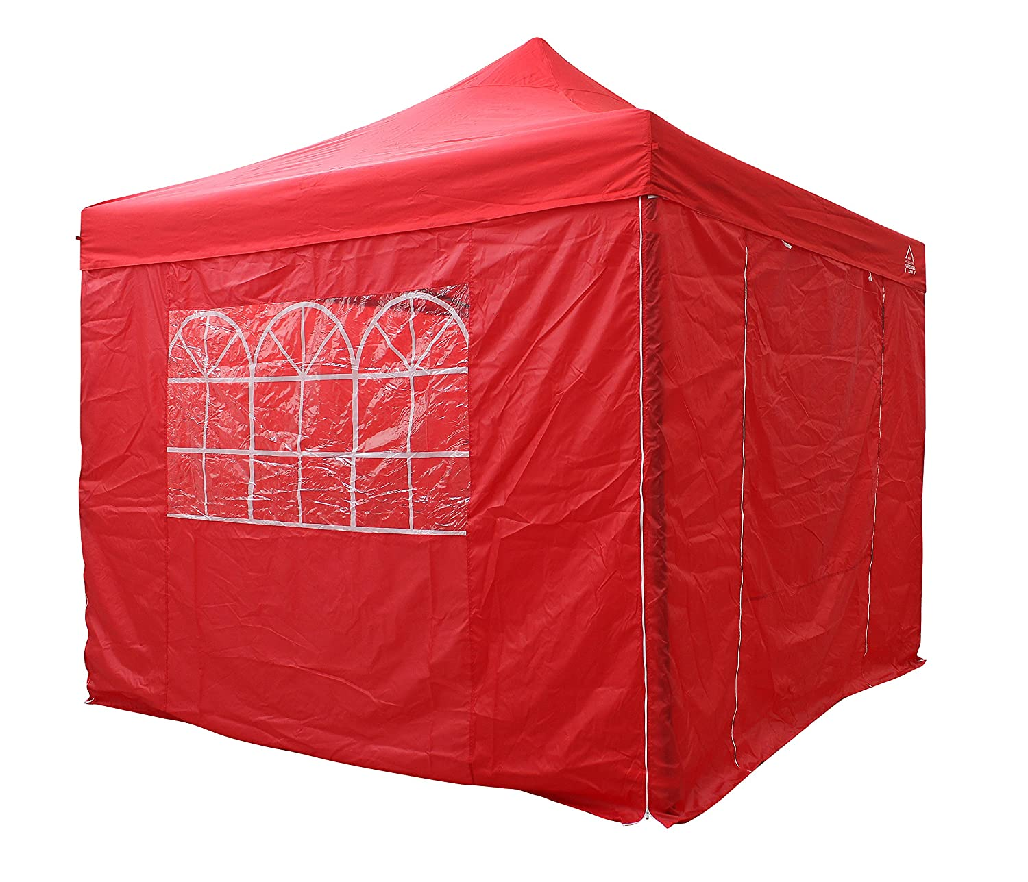 AllSeasonsGazebos Choice of 7 Colours, 3x3m, Heavy Duty, Fully Waterproof, Premium Pop Up Gazebo with 4 x Standard 100% waterproof zip up Side Panels. With Carry Bag and 4 x leg weight bags (Beige) All Seasons Gazebos
