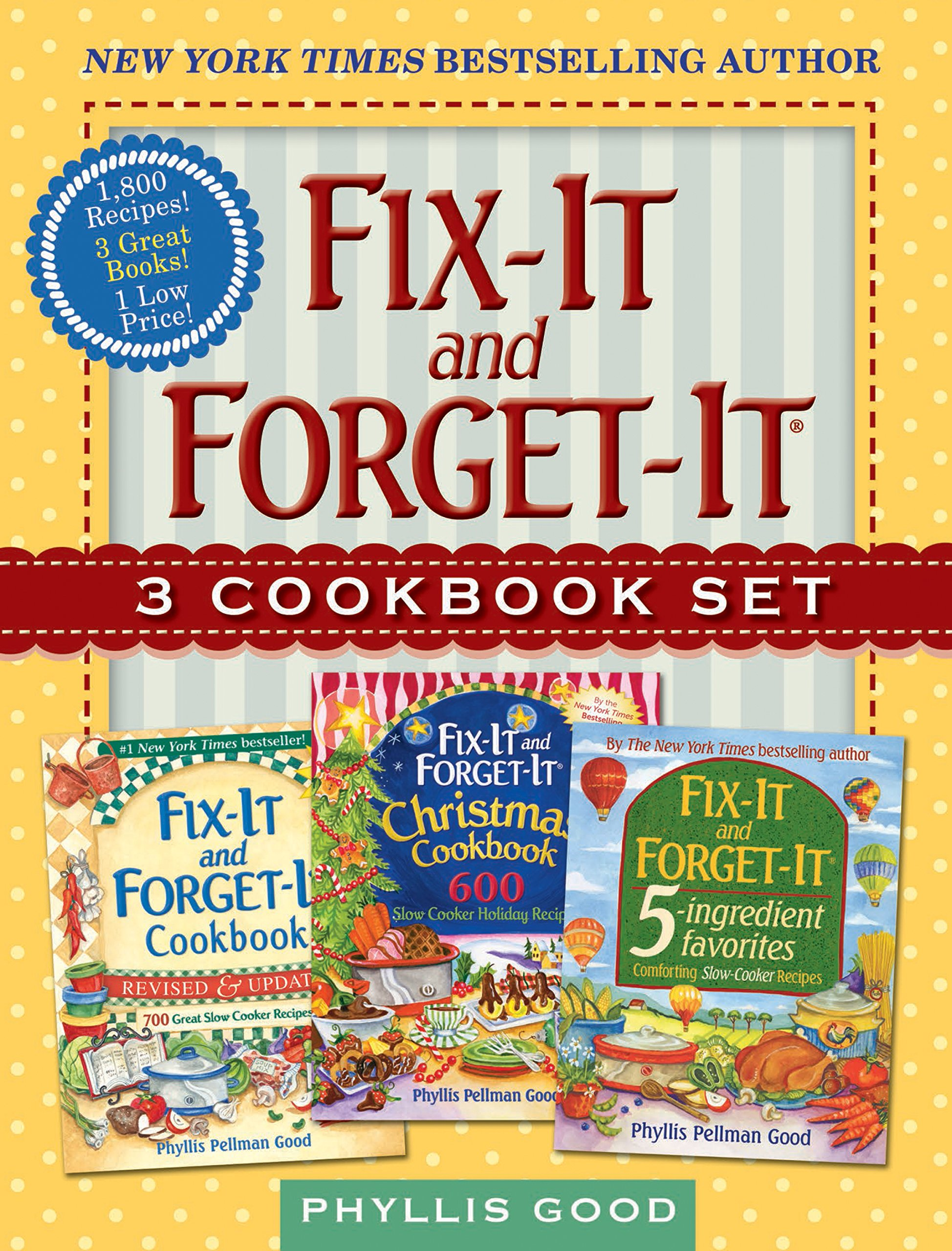 Fix-It and Forget-It Box Set: 3 Slow Cooker Classics in 1 Deluxe Gift Set by Good Books