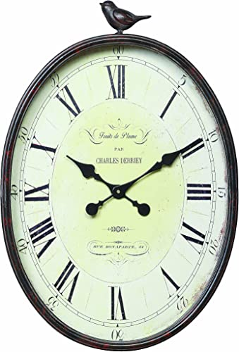 Creative Co-op Oval Metal Wall Clock