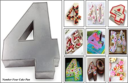 Euro Tins molde para tarta de cumplea/ños de n/úmero grande DOS 2 tama/ño 35,5 x 25,4 cm - 7,6 cm de profundidad