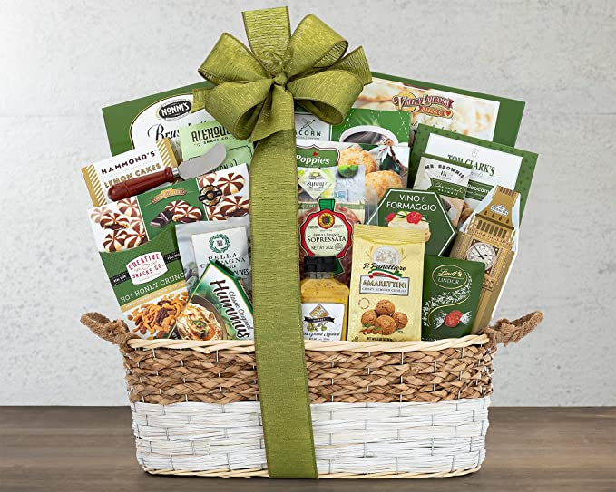 CD3280082 Gourmet Choice Gift Basket for Thank You and personalized card mailed seperately