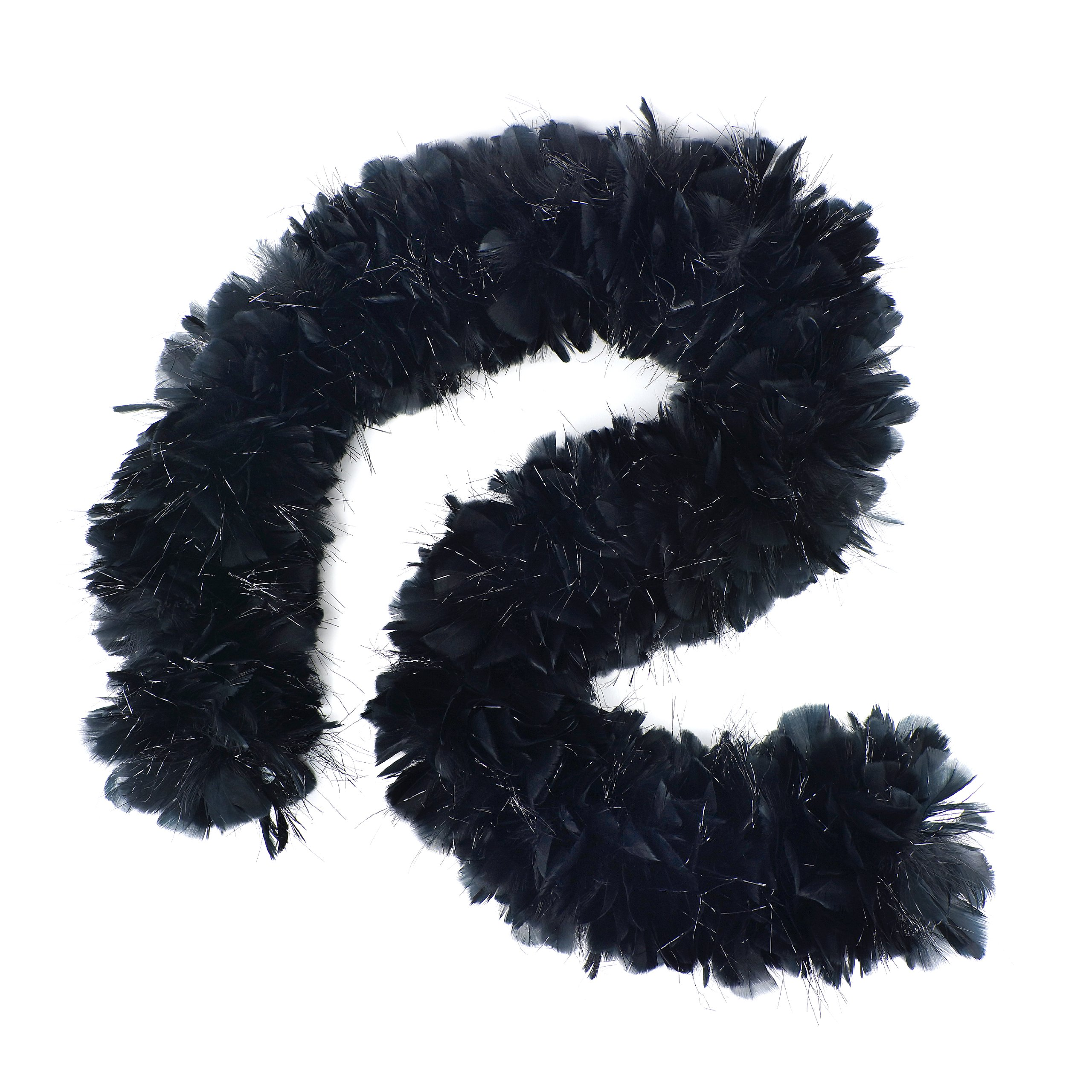 Zucker Feather Products Turkey Boa with Lurex, Black