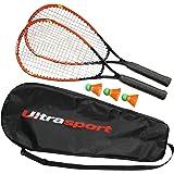 Ultrasport Set de Fastball Turbo-Badminton, Cordage Multifilament en Fibre Résistante