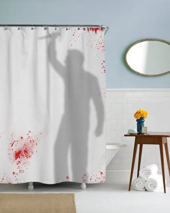 Amazon Psycho Killer Shower Curtain Funny Showering Curtains