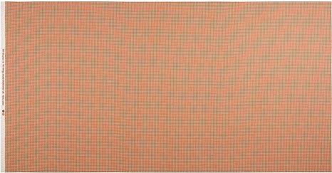 New Gingham Cotton Fabric  Fat Quarter Makower Orange