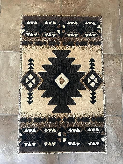 Ordinaire Southwest Native American Door Mat Area Rug Beige Berber Design C318 ( 2  Feet X 3