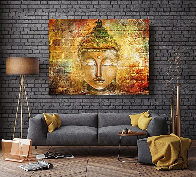 Hand Painted Framed Canvas Art Buddha Oil Paintings