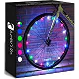 Activ Life LED Bike Wheel Lights with Batteries Included! Get 100% Brighter and Visible from All Angles for Ultimate Safety &