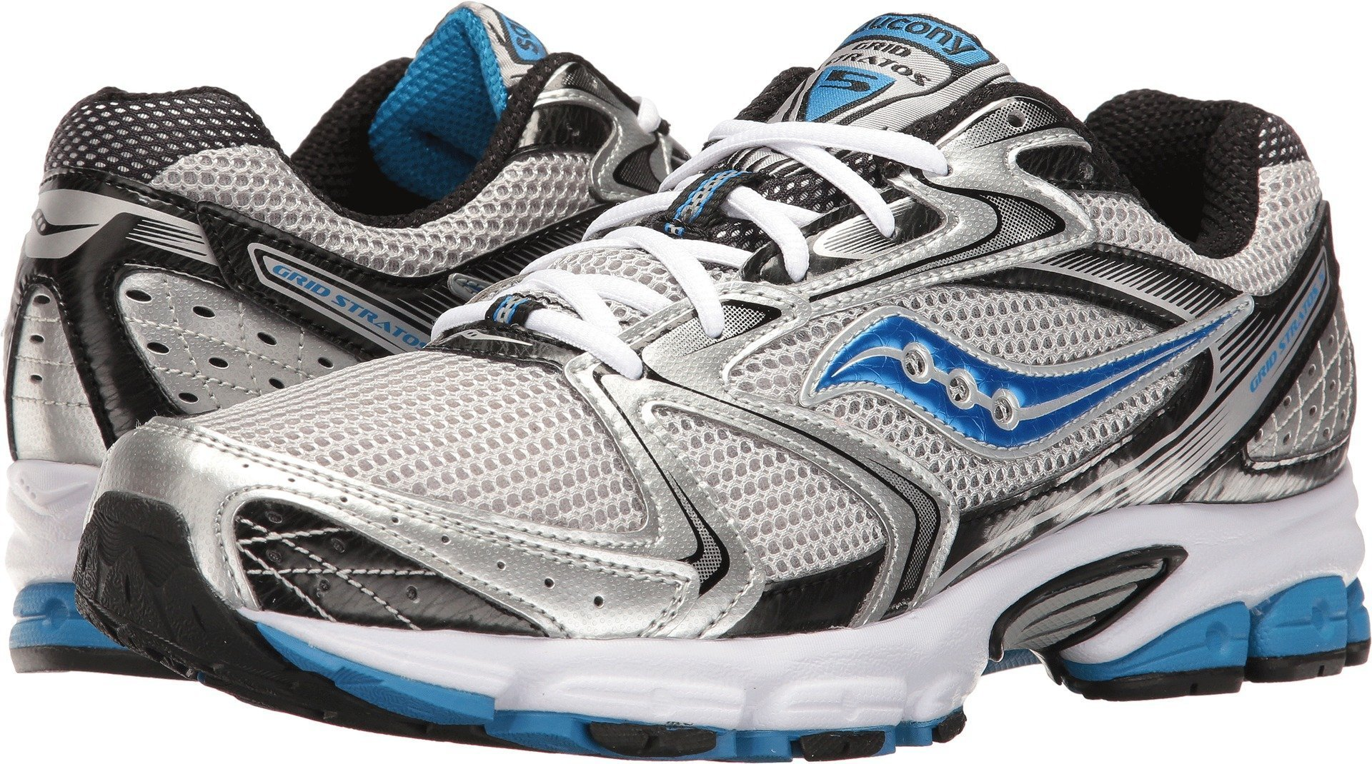 Saucony Men's Grid Stratos 5 Silver/Black/Royal 11 D US