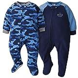 GERBER Baby Boys 2-Pack Blanket Sleeper, Blue