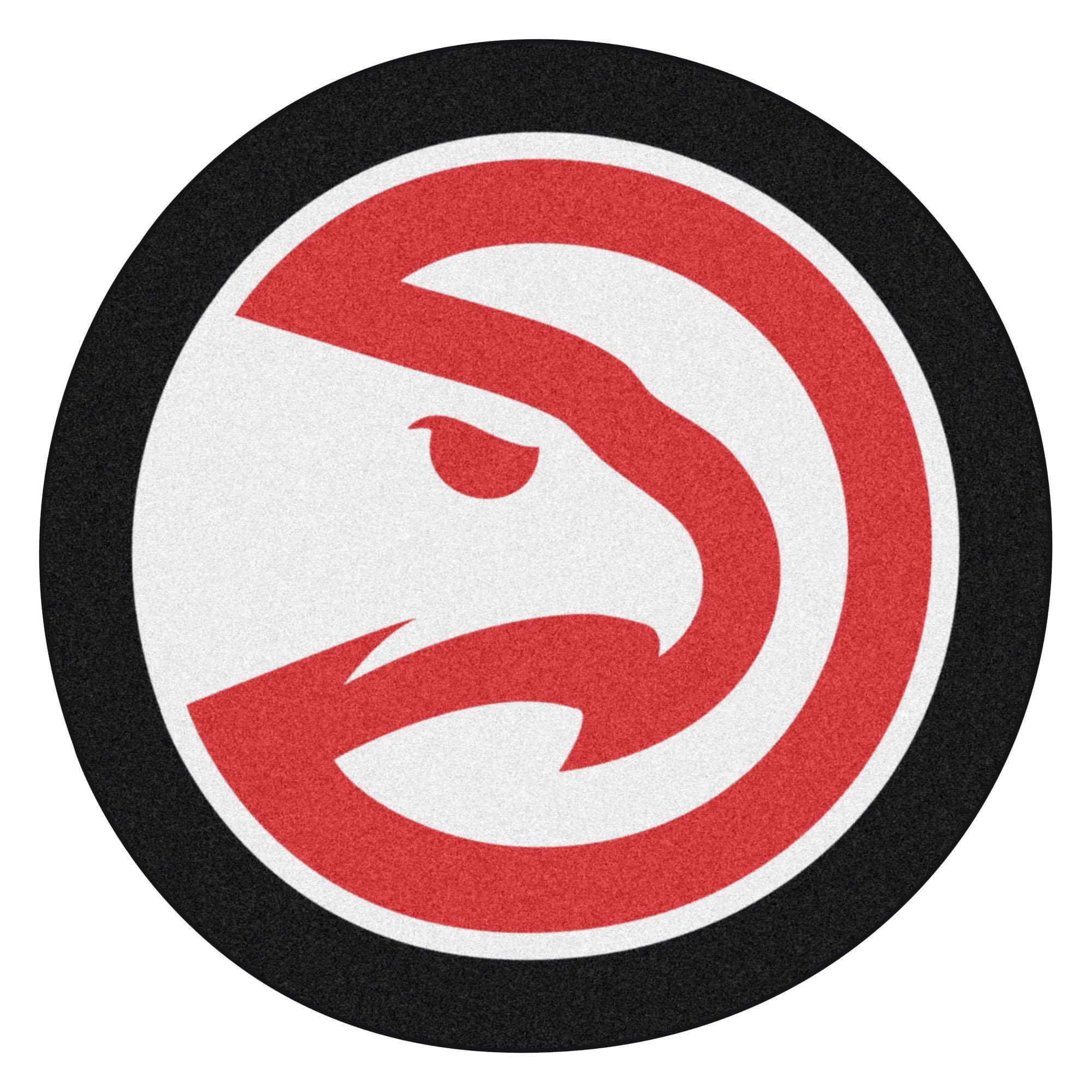 Fanmats 21331 NBA - Atlanta Hawks Mascot Mat, Team Color, 3' x 4'