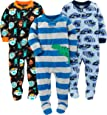 Simple Joys by Carters Baby and Toddler Boys 3-Pack Loose Fit Fleece Footed