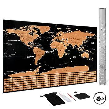Amazon.com: JDC Deluxe Rasca Mapa Mundo: Regalo perfecto ...