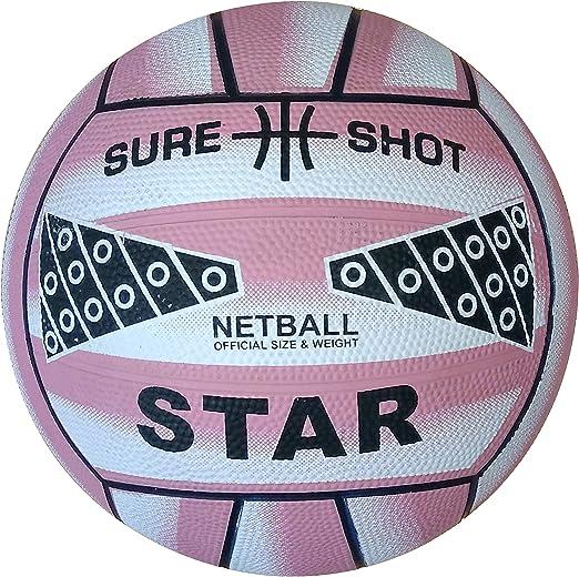 Sure Shot - Balón de Netball, Color Rosa: Amazon.es: Deportes y ...