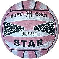 Sure Shot - Balón de Netball, Color Rosa