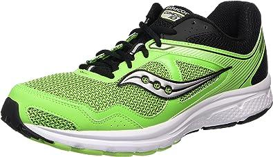 Saucony Cohesion 10, Zapatillas de Running para Hombre, Verde (Slime/Black), 48 EU: Amazon.es: Zapatos y complementos