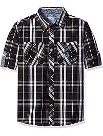 U.S. Polo Assn Boys  Long Sleeve Plaid Two Pleated Pocket Sport Shirt 74bd82050