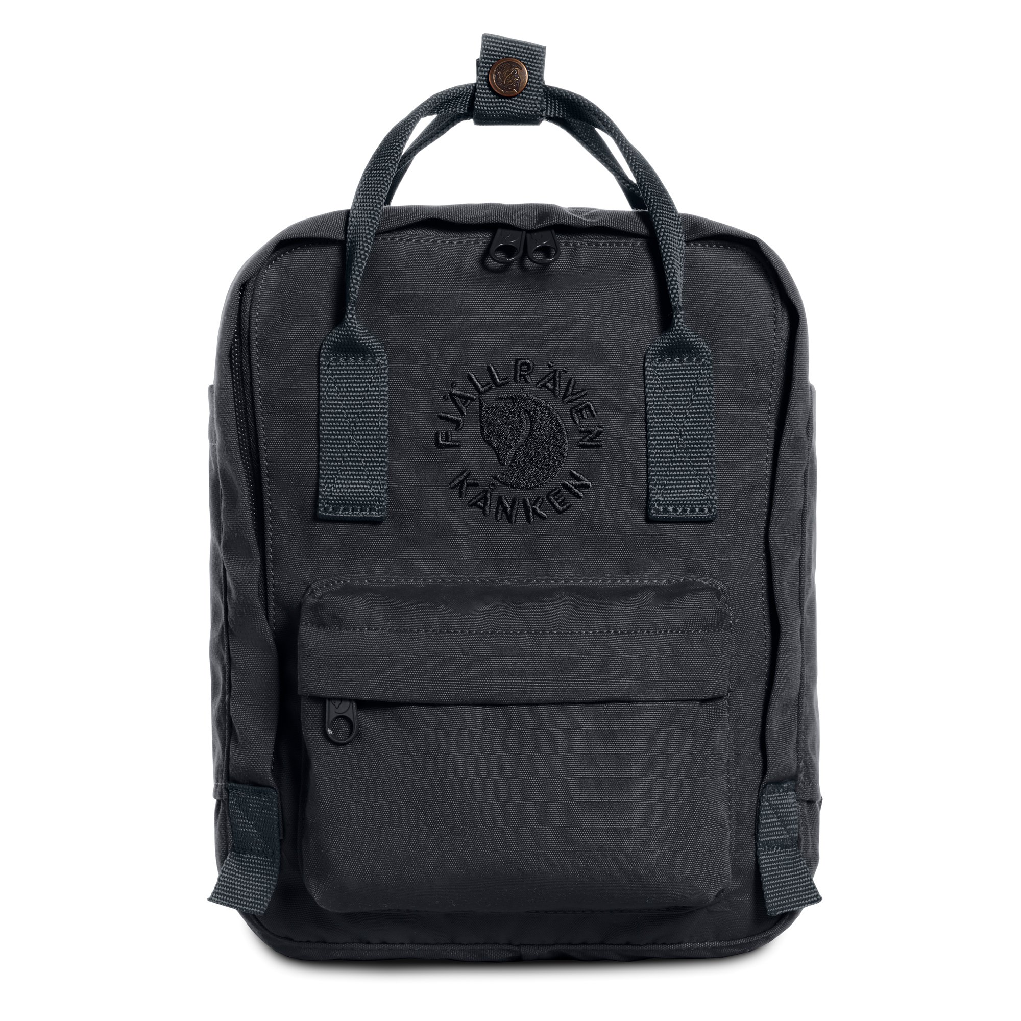 Fjallraven - Kanken, Re-Kanken Mini Recycled Backpack for Everyday Use, Heritage and Responsibility Since 1960, Slate