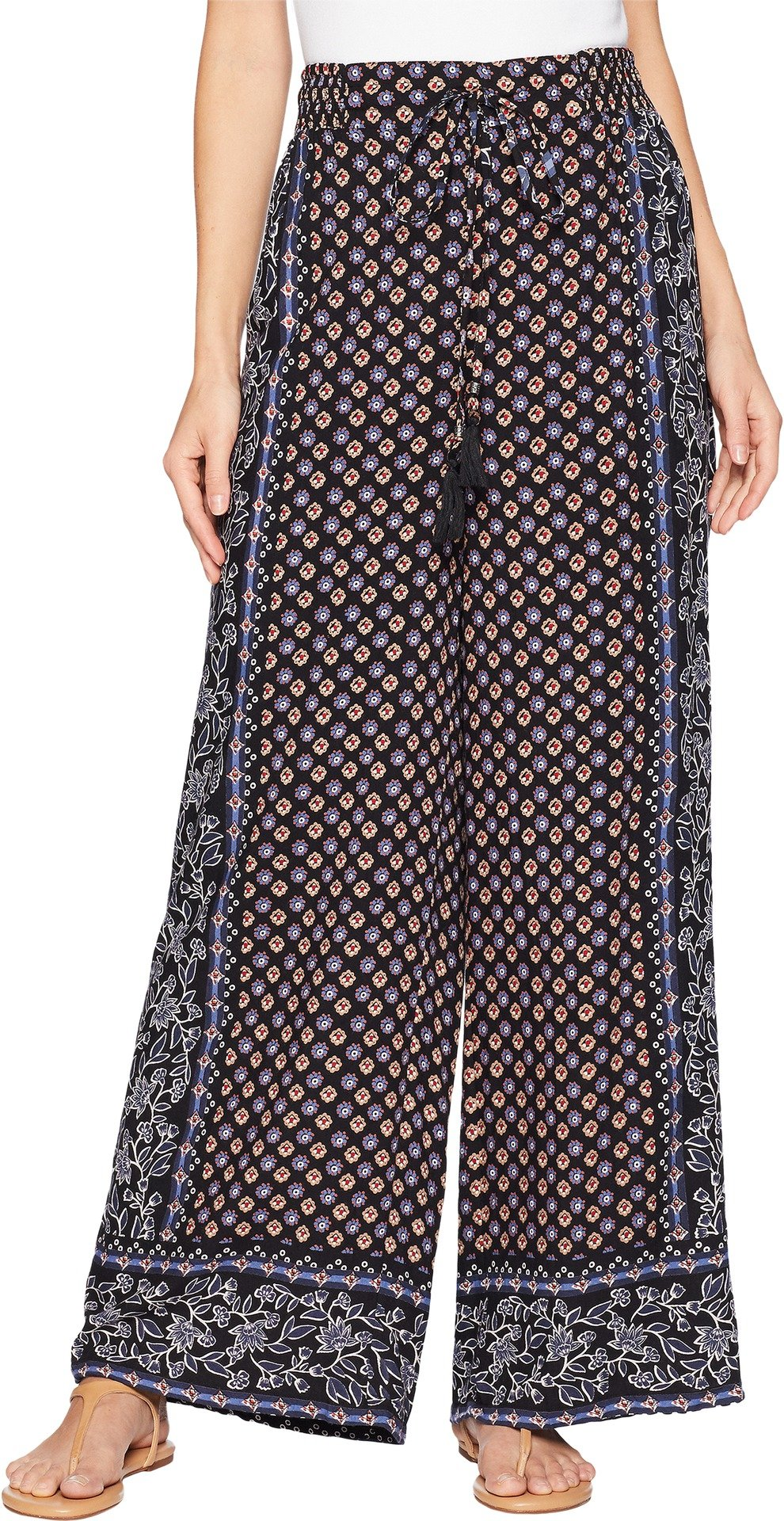 Angie Women's Printed Pants Black Small 29.5