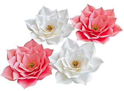 Amazon keira prince crafts paper flowers beautiful handmade keira prince crafts paper flowers beautiful handmade set of 4 pink flowers 20cm8inch mightylinksfo