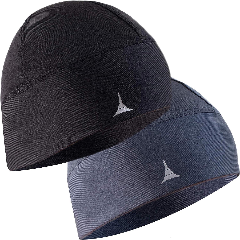 Skull Cap//Helmet Liner//Thermal Running Beanie Hat Fits Under Helmets