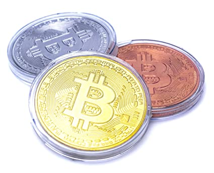 Bitcoin Coins, Set of 3 - Gold, Silver, and Bronze Physical Blockchain  Cryptocurrency in Protective Collectable Gift Case, Crafted with Fine  Detail