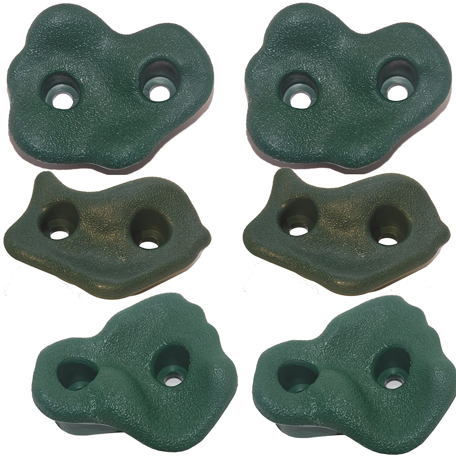 Green(2Pack) Rock Pegs Medium for Indoor & Outdoor Rock Wall to Get Kids Exercise Climbing to Strength Upper Body Known As Rock Hold  Rock Climbing Wall