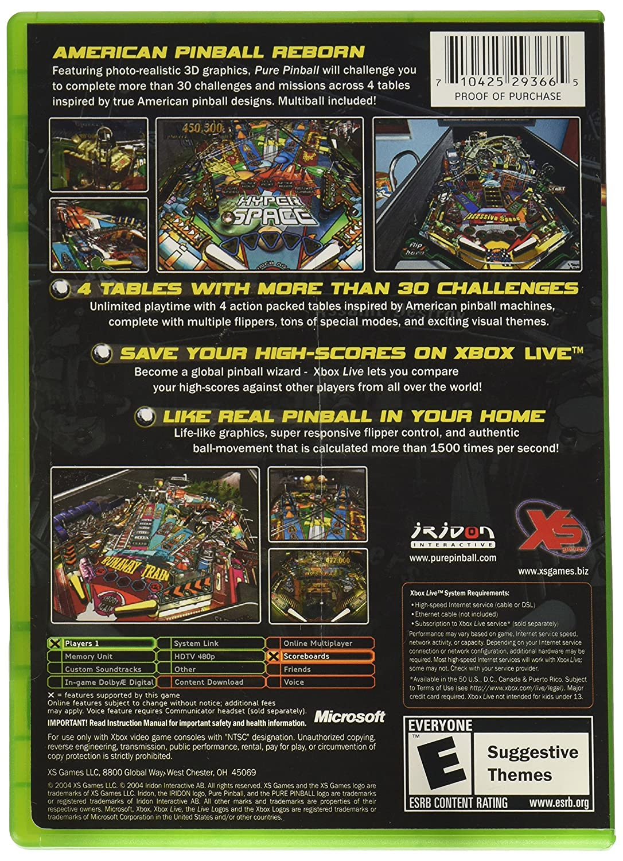 Amazon com: Pure Pinball (Xbox): Video Games