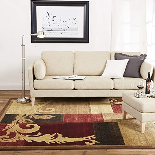 Home Dynamix Catalina Pierre Contemporary Modern Area Rug 7'10″x10'2″ Geometric Brown Red Beige