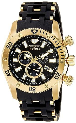 Invicta 0140 Sea Spider Reloj para Hombre acero inoxidable Cuarzo Esfera negro: Amazon.es: Relojes