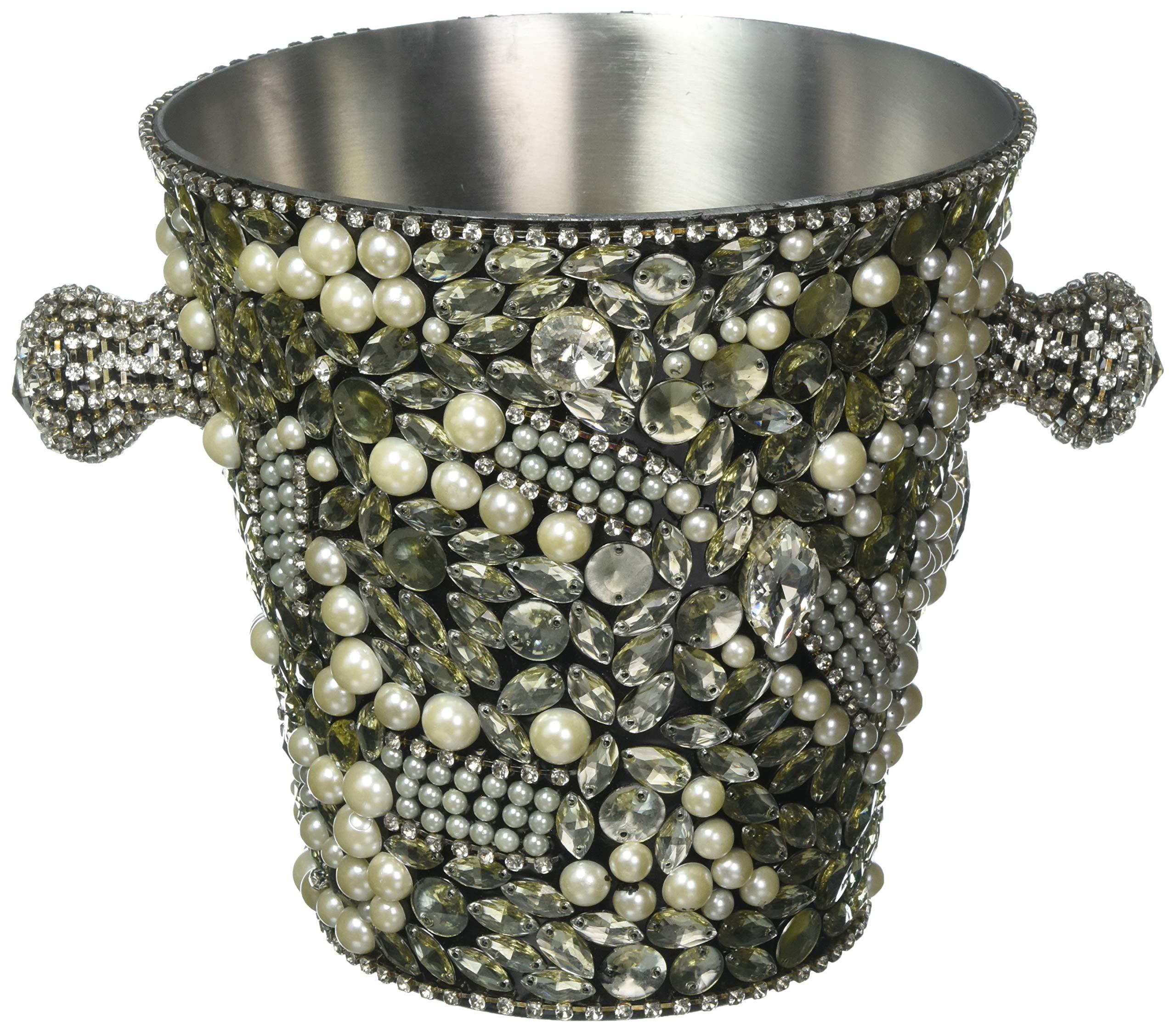 Vanderpump Beverly Hills Diamante Bottle Cooler, Grey