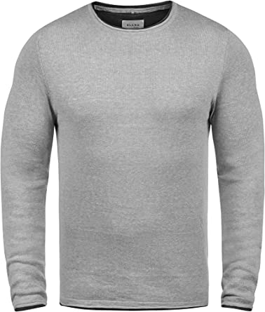 BLEND Odin Jersey De Punto Suéter para Hombre con Cuello Redondo ...