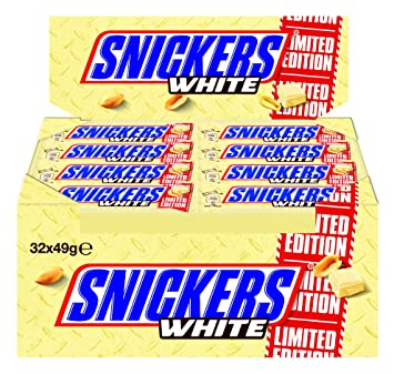 snickers white  : Mars Snickers White 32 x 49g Riegel LIMITED EDITION ...